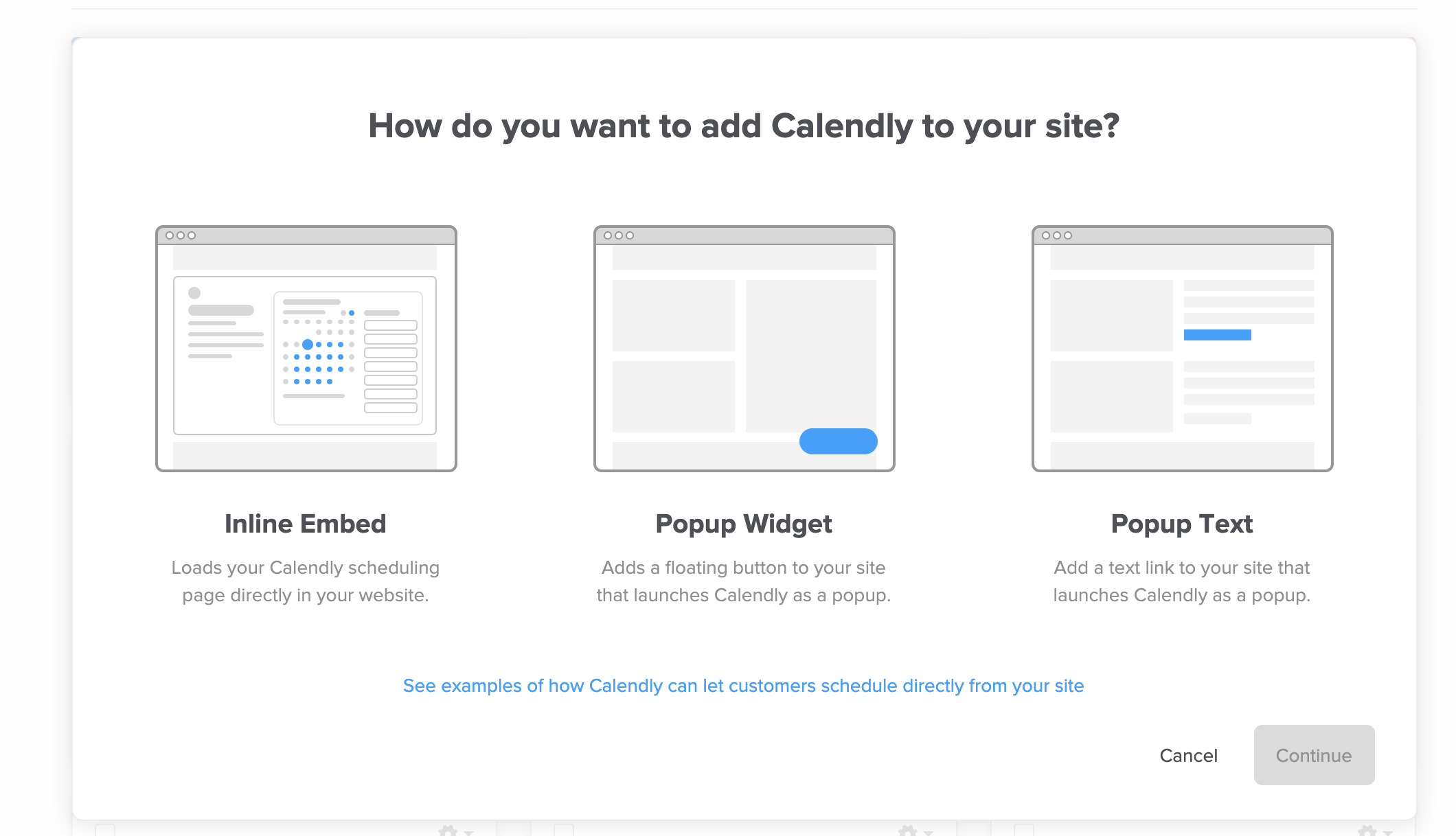 Calendarly embed options