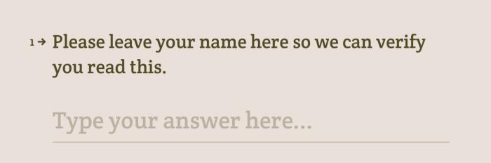 Typeform verify name