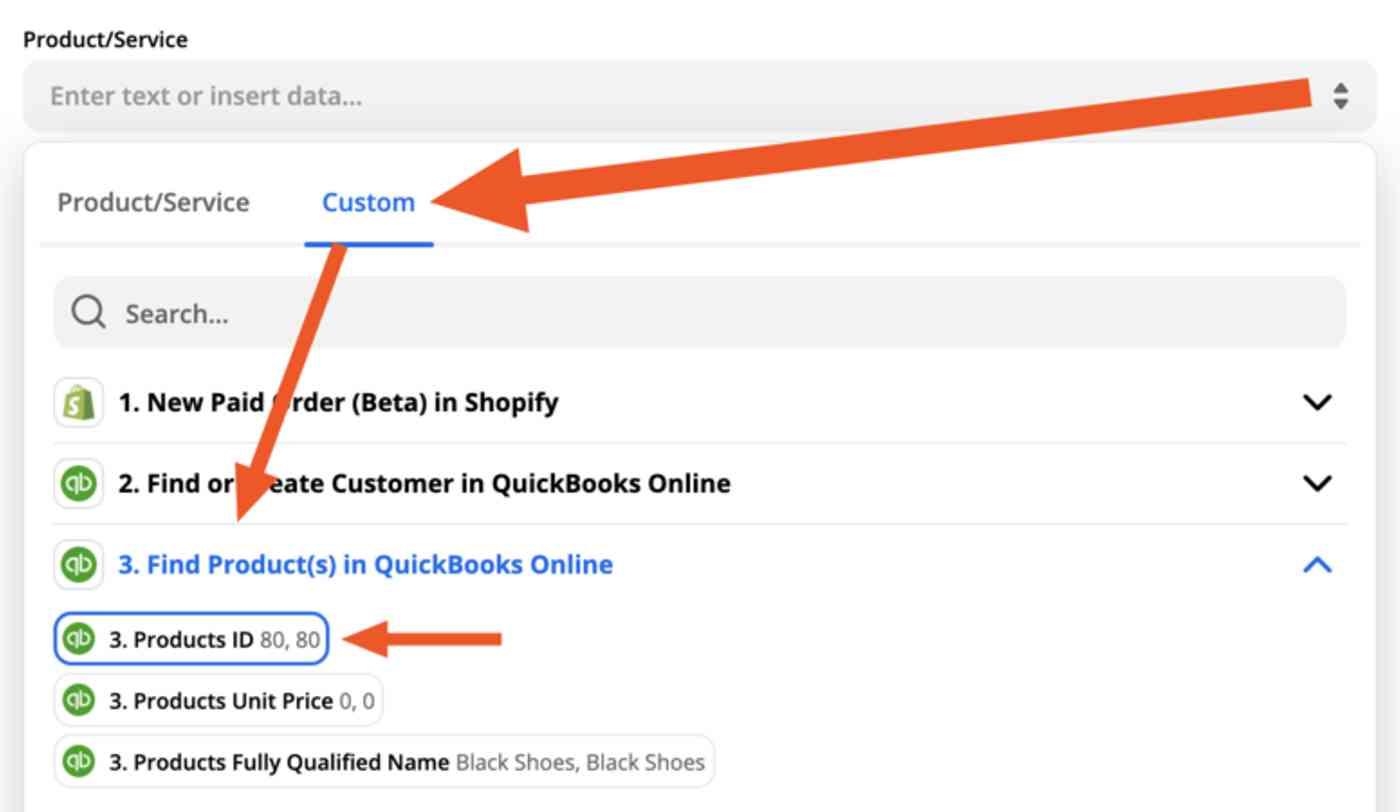 Product/Service: Custom: Product ID
