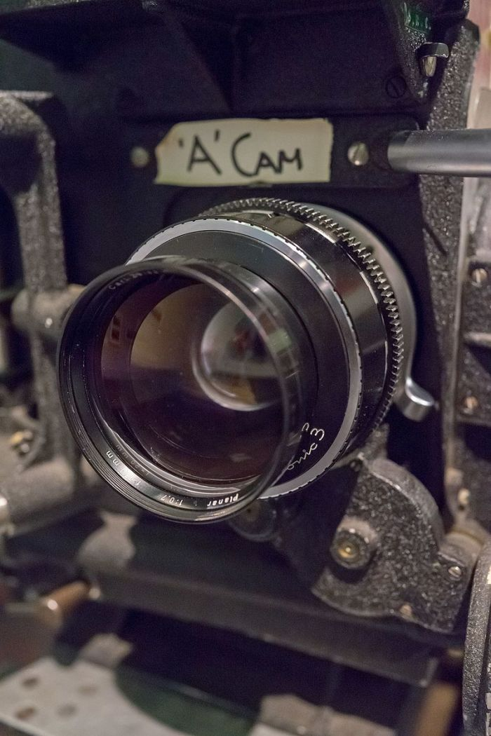 Zeiss Planar 50mm F0.7 lens attached to camera