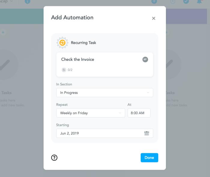 Finalize details of automation