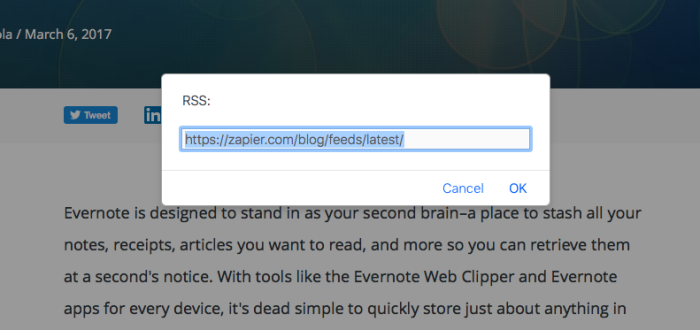 Find RSS feed with RSS autodiscovery