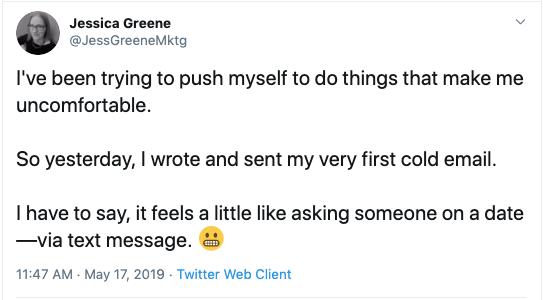 Jessica Greene Twitter update