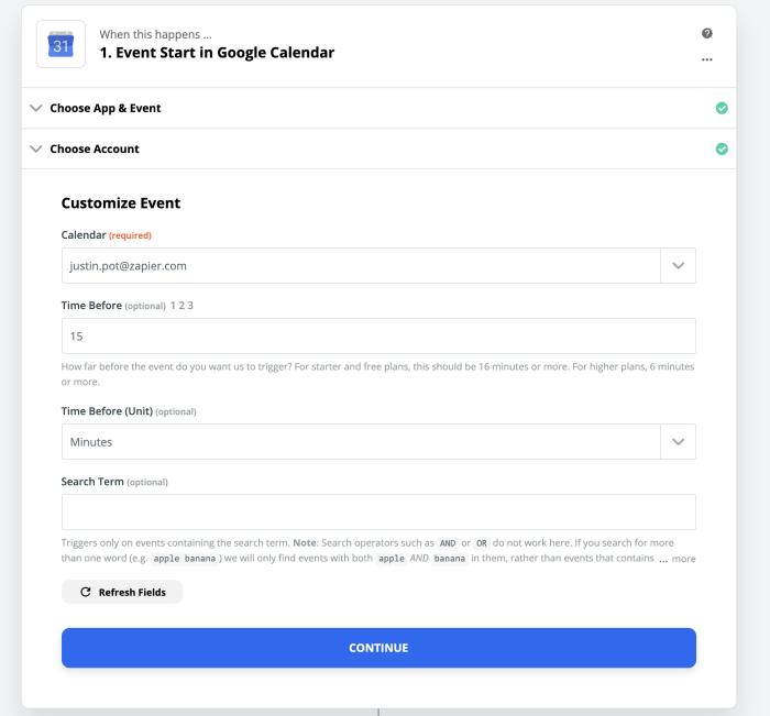 Elige y configura tu Google Calendar