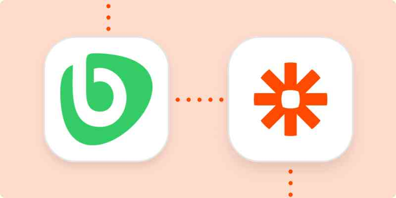 Bonusly and Zapier logos on an orange background.
