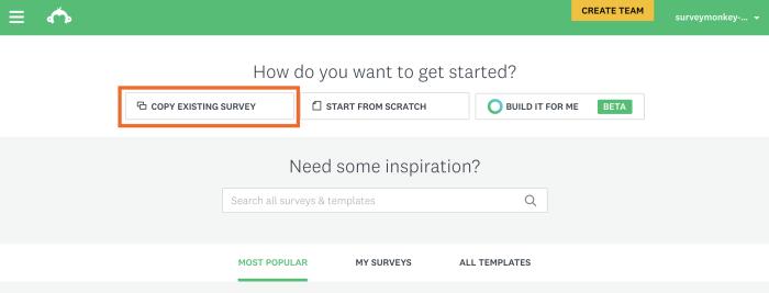 Copy Existing Survey in SurveyMonkey