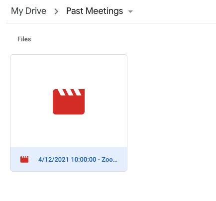 A screenshot of a video file in a Google Drive folder.
