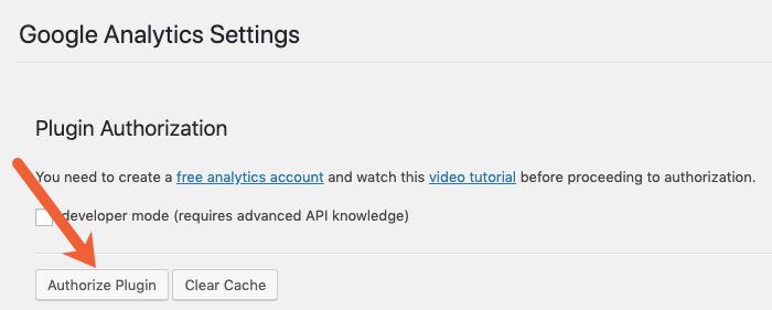 authorize Google Analytics access