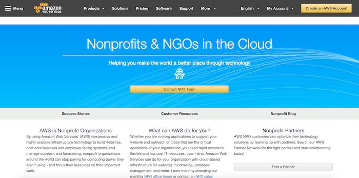 Amazon Web Services for Nonprofits