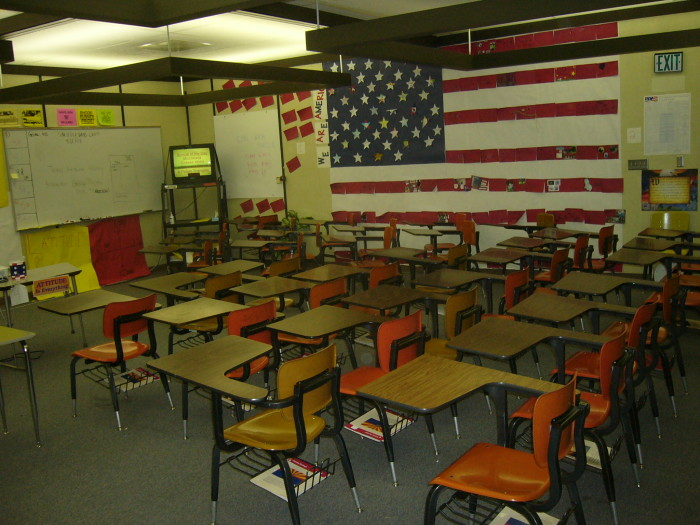 Nikki's classroom when she was a teacher