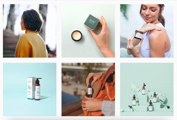 Joy Organics Instagram posts