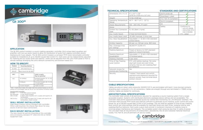 Cambridge Sound Management products