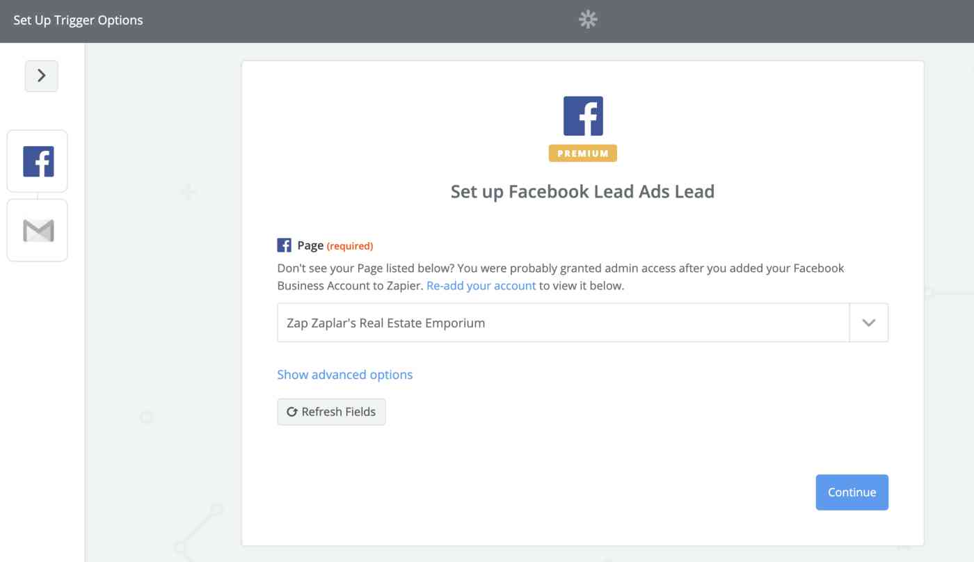 Facebook lead ads sample data