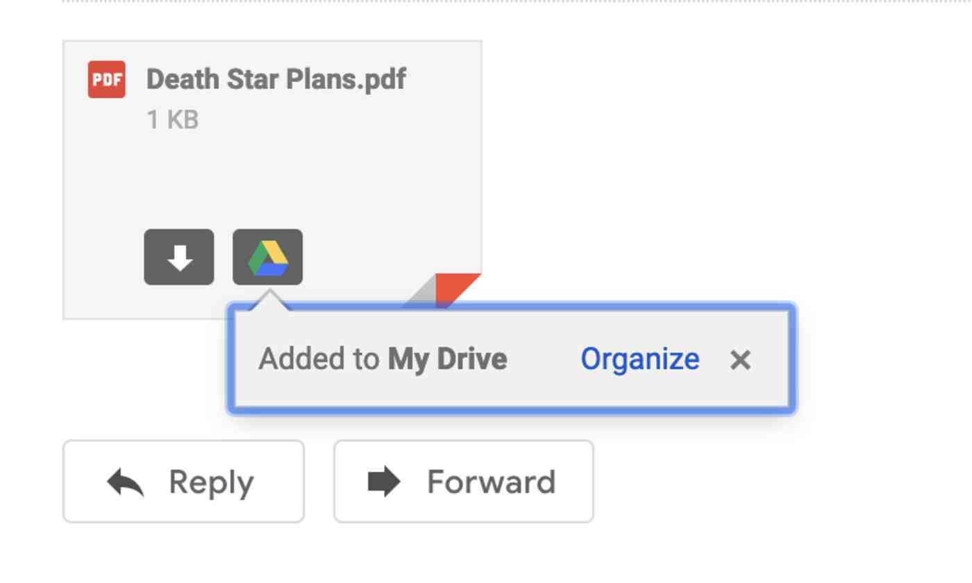 Google Drive popup in Gmail