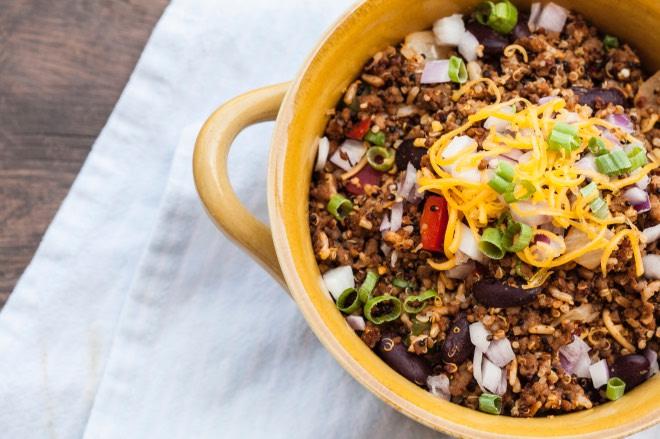 Snap Kitchen's Bison Quinoa Hash.
