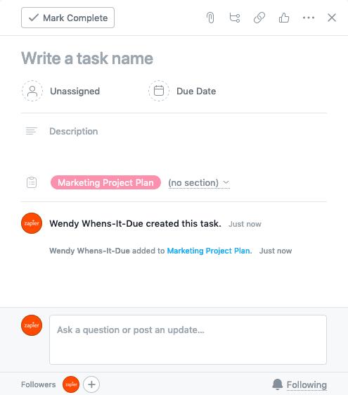 Task editor