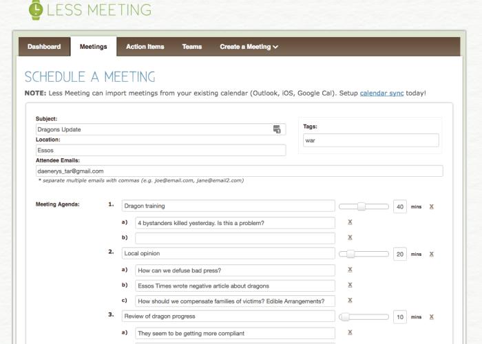 Less Meeting