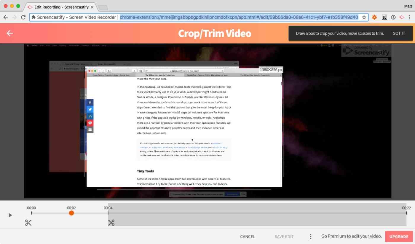 Screencastify screenshot