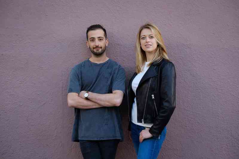 OpenPhone founders Mahyar Raissi, left, and Daryna Kulya.