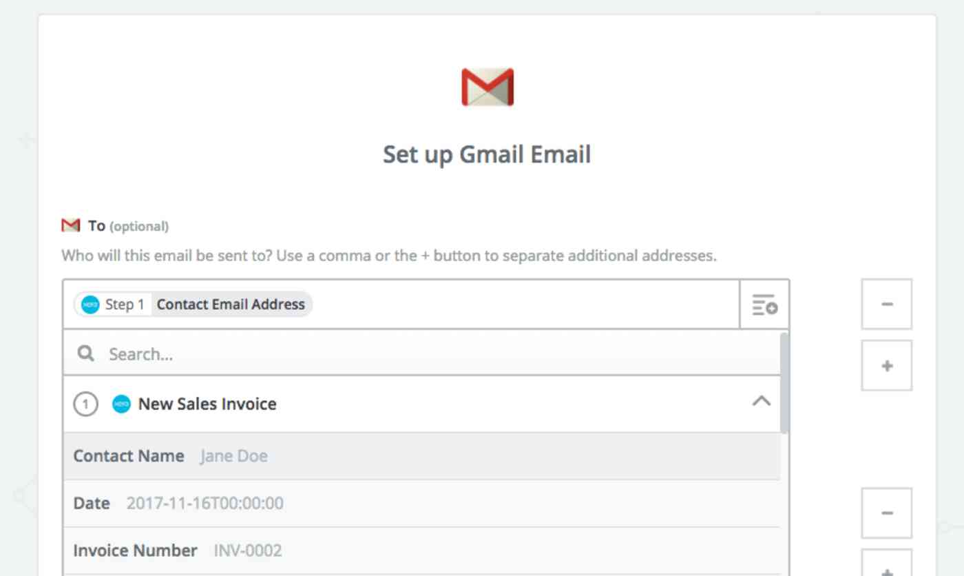 Zapier Gmail notification