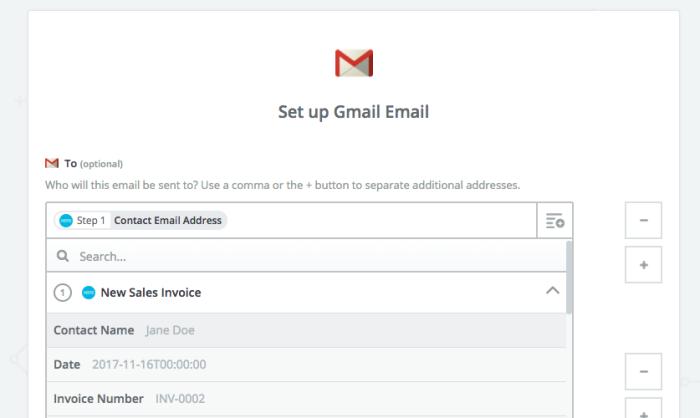 Zapier Gmail notification