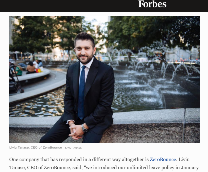ZeroBounce CEO featured in Forbes