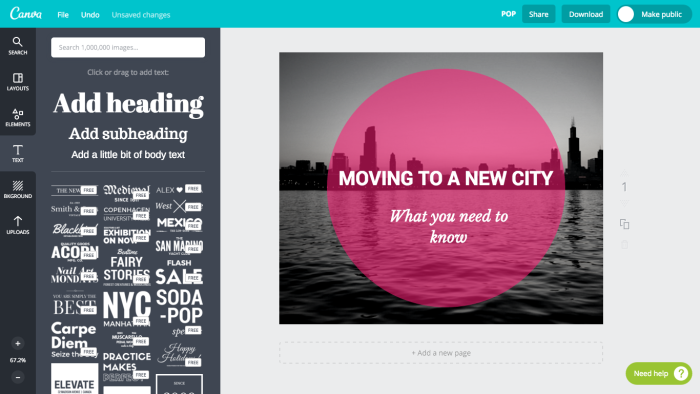 banner in canva