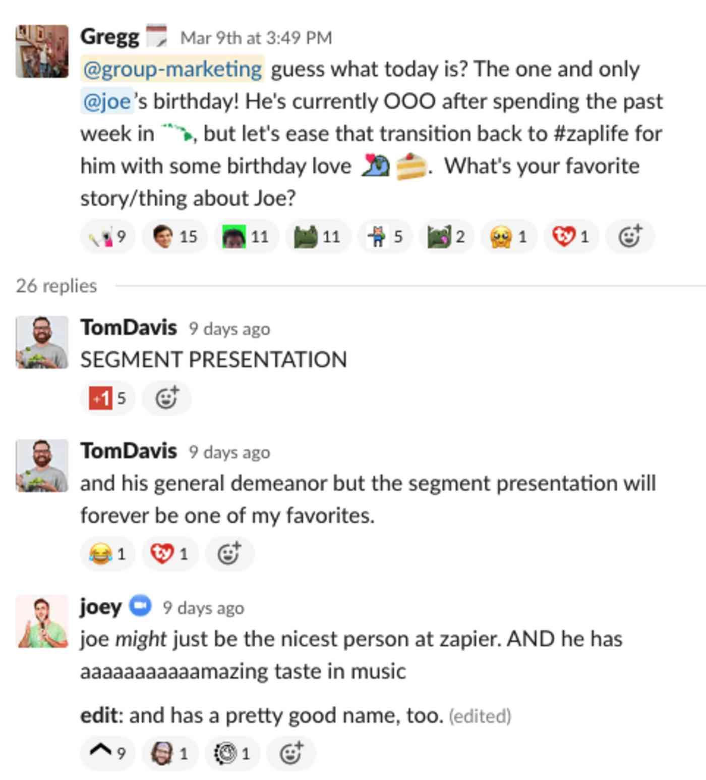 A very public happy birthday message