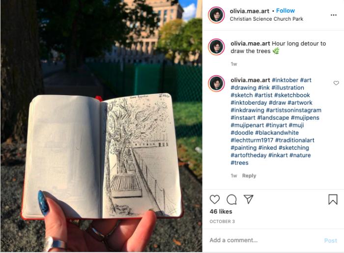 Recent Instagram entry for #mujipenart from https://www.instagram.com/p/CF5swGysgzR/