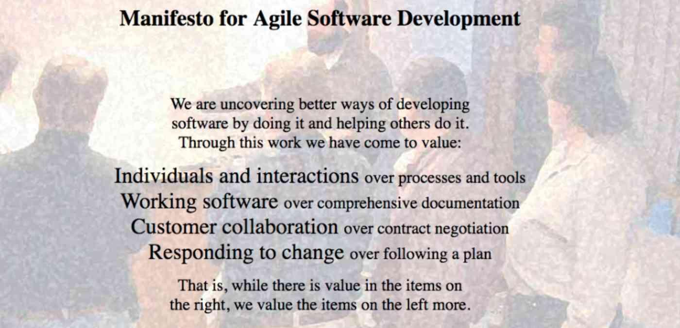Agile Software Development Manifesto
