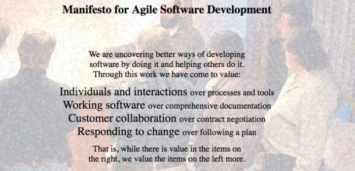 Manifiesto de desarrollo de software ágil