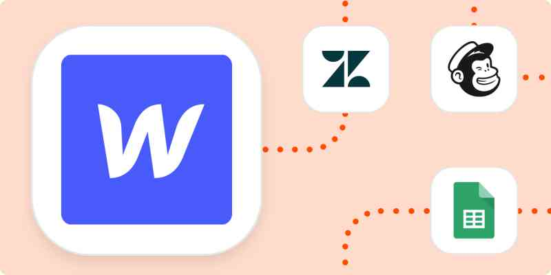 The logos for Webflow, Zendesk, Mailchimp, and Google Sheets.