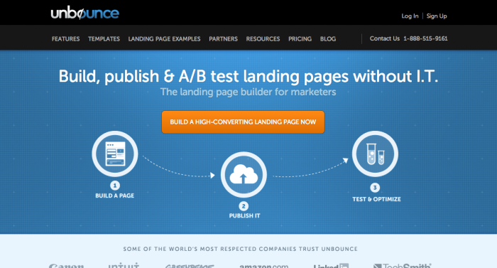 Unbounce makes it easy to launch your landing pages with an easy design editor plus a library of templates, designed and tested for conversions.