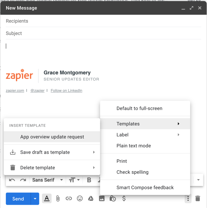 access canned responses in Gmail