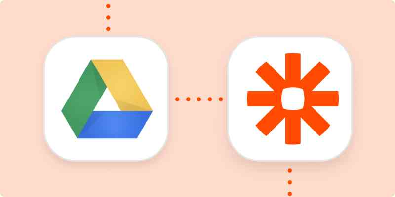 The Google Drive and Zapier logos.