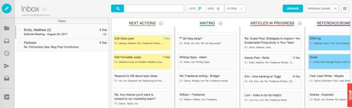 Sortd Gmail extension screenshot