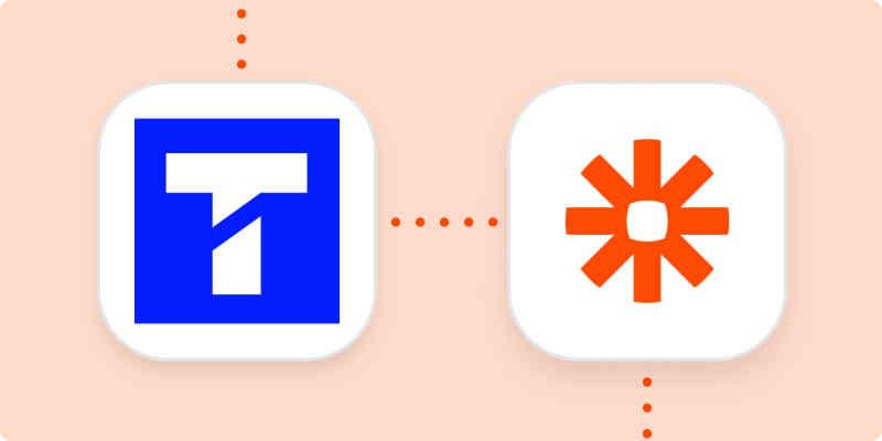 Textline logo and Zapier logo on an orange background