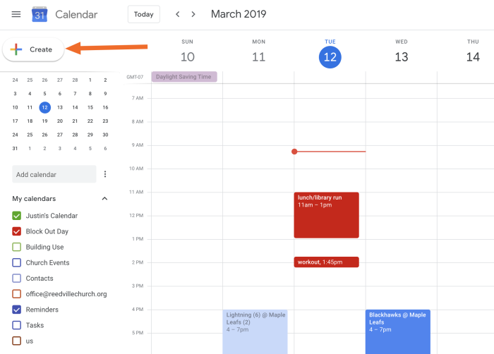 Google Calendar add button