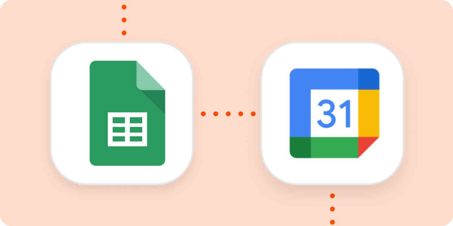The Google Sheets and Google Calendar logos