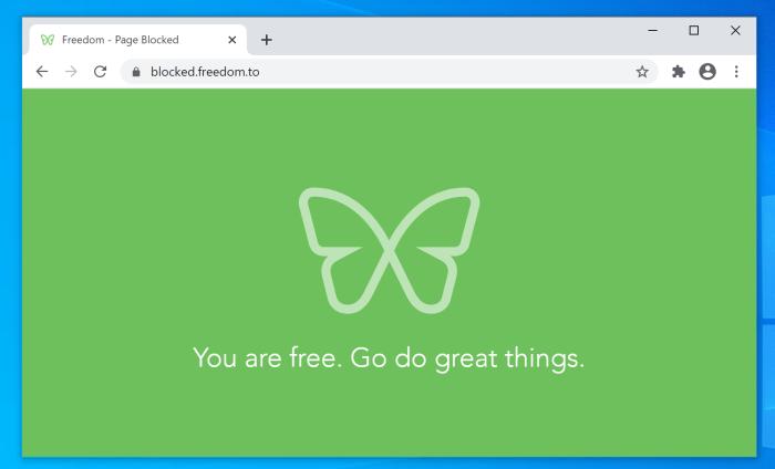 Captura de pantalla de la libertad