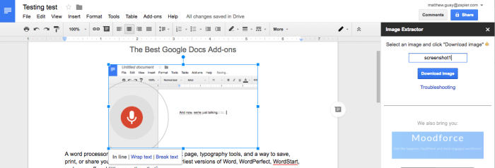 Image Extractor for Google Docs