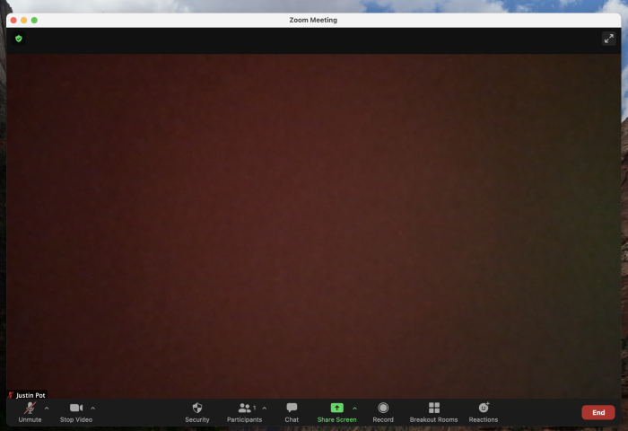 A sticky note over the webcam making it look broken