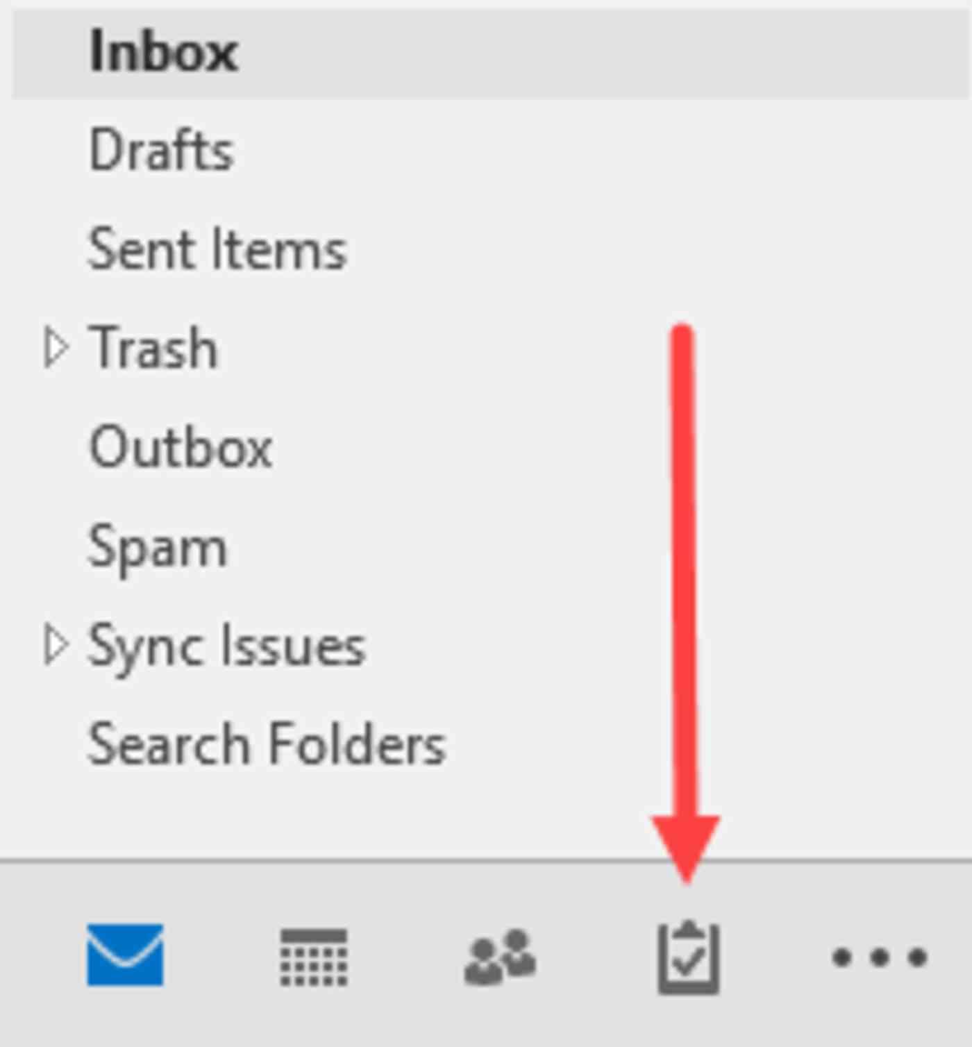 Microsoft Outlook task list