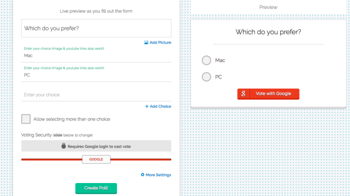 Add an extra layer of security to your polls with Polltab