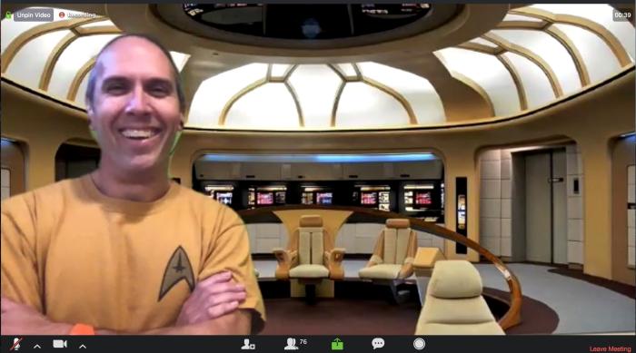 Ben on a Star Trek background