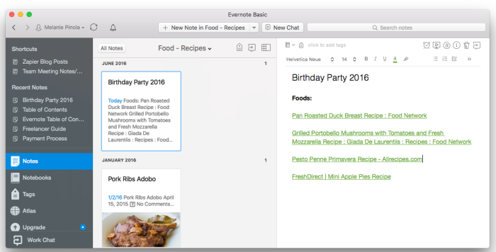 Add internal note links in Evernote