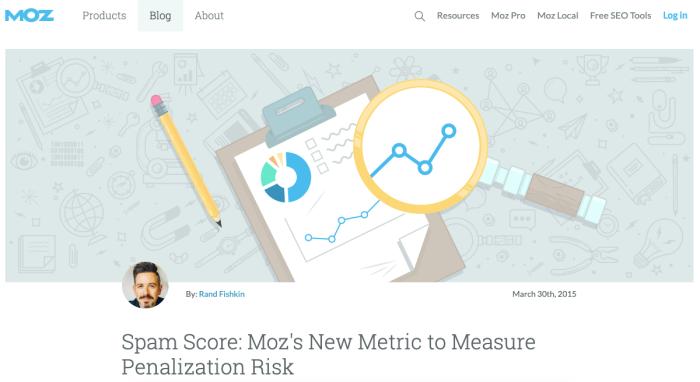 Moz Spam Score release announcement