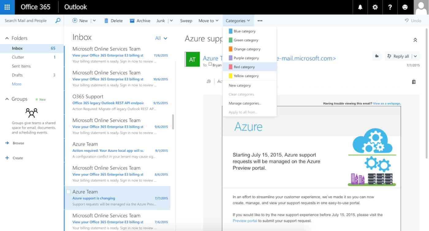 Email in Office 365