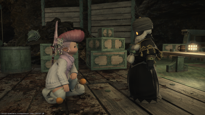 A screengrab from Melissa's FF14 world