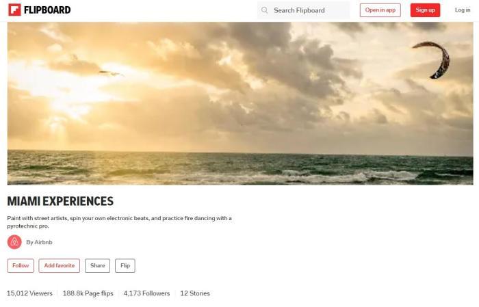 A screenshot from Flipboard
